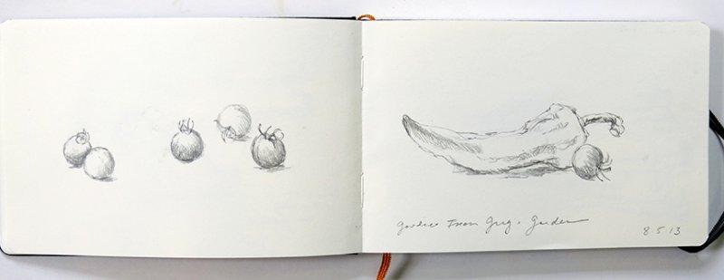 Greg's Garden Veggies - 8/5