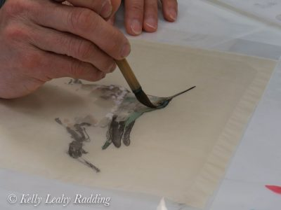 dan chen, silk painting, chinese watercolor