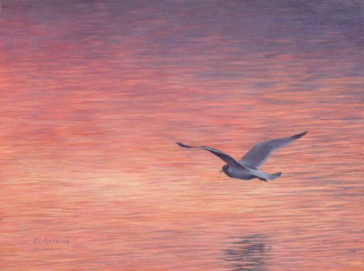 Lightness, Fire, Kelly Leahy Radding, egg tempera